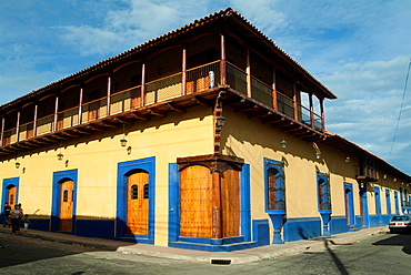 Typical Spanish colonial houses, Leon, Nicaragua
