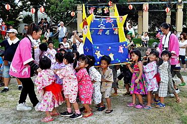 Naha, Okinawa, Japan, Tanabata Matsuri for children in Makishi