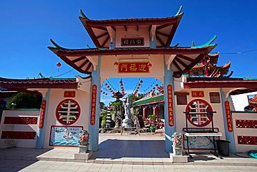 Chinese temple at Beliong, Sarawak, Malaysia.