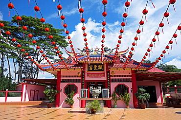 Chinese temple at Sungai Apong, Sarawak, Malaysia.