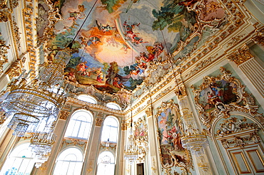 Germany, Bavaria, Munich, Schloss Nymphenburg Palace, Room.