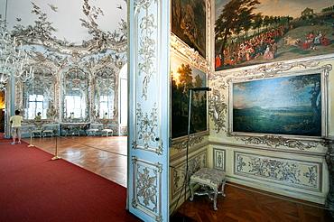 Germany, Bavaria, Munich, Schloss Nymphenburg, Amalienburg Palace.