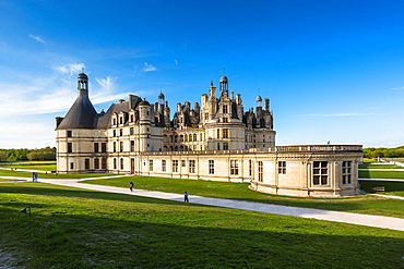 The beautiful Chateau de Chambord (Chambord Castle) in the Loire Valley, Loir-et-Cher, France, Europe
