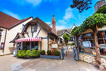 The quaint Tuck Box restaurant in Carmel-by-the-Sea, California, USA
