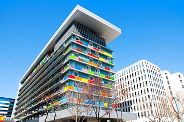 INE building. Paseo de la Castellana, Madrid, Spain.