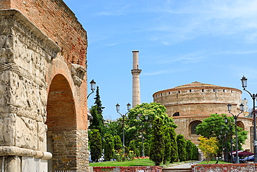 Greece, Central Macedonia, Thessaloniki, Arch of Galerius and Rotunda 4th C, listed as World Heritage