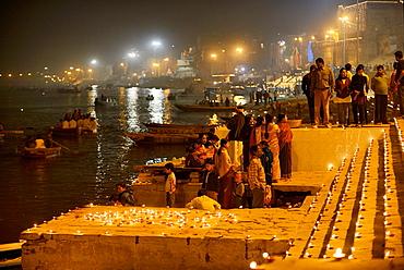 India, Uttar Pradesh, Varanasi, Dev Deepawali festival.