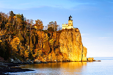 Split Rock Lighthouse at Split Rock Lighthouse State Park on the north shore of Lake Superior in Minnesota.