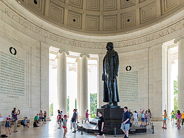 Interior, Jefferson Memorial, Washington DC, USA.