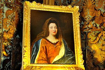portrait of Mme de Maintenon like Roman Ste Francoise 17th, Chateau de Maintenon, Eure & Loir department, region Centre, France, Europe.