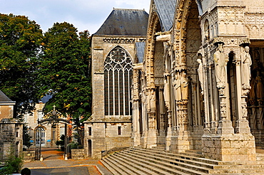 North Portal of the Cathedral of Our Lady of Chartres, Chartres, Eure & Loir department, region Centre, France, Europe.