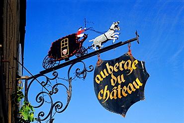 inn sign at Fraze, Eure & Loir department, region Centre, France, Europe.
