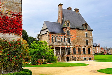 Chateau des Montgommery, Ducey, Manche department, Low Normandy region, France, Europe.