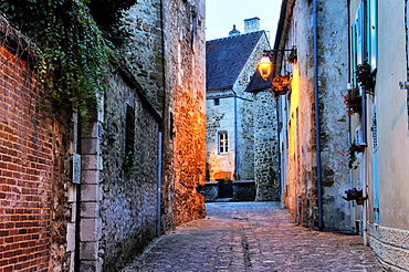 Toussaint street, Mortagne-au-Perche, Regional Natural Park of Perche, Orne department, Lower Normandy region, France, Western Europe.
