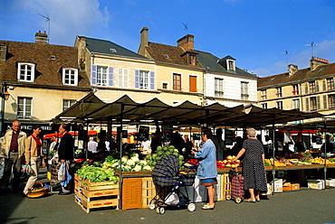 market of Mortagne-au-Perche, Regional Natural Park of Perche, Orne department, Lower Normandy region, France, Western Europe.