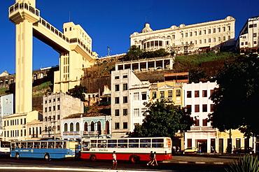 lacerda lift, salvador, bahia, brazil, south america.