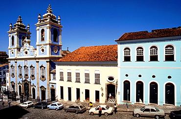 nossa senhora do rosario dos pretos, church, pelourinho, salvador, bahia, brazil, south america.
