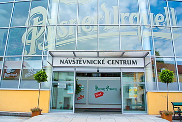 Visitors Centre in Pilsner Urquell brewery factory Plzen Czech Republic Europe.