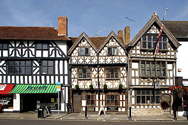Stratford-upon-Avon, Henley Street, Harvard House (1569), Built by a butcher Thomas Rogers, grandfather of  John Harvard, founder of Harvard University, Warwickshire, the Midlands, UK