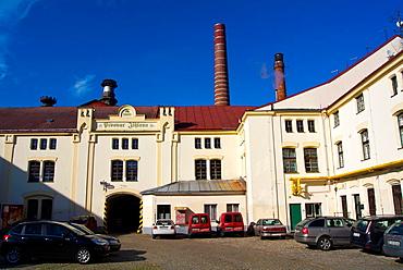 Pivovar Jihlava the brewery known for its Jezek beer Jihlava city Vysocina region Moravia central Czech Republic Europe.