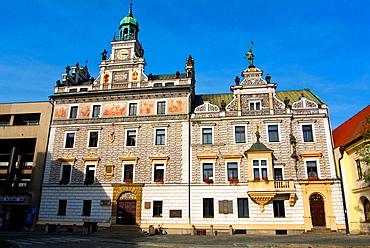 Radnice the town hall Karlovo namesti main square Kolin town Central Bohemian region Czech Republic Europe.