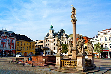 Karlovo namesti main square Kolin town Central Bohemian region Czech Republic Europe.