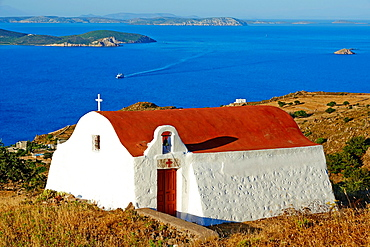 Greece, Dodecanese, Patmos island, small church.