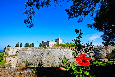 Greece, Dodecanese, Rhodes island, Rhodes city, Unesco word heritage, the Fortress and the Palace of Grand Masters.