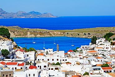 Greece, Dodecanese archipelago, Rhodes island, Lindos village.