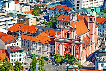 Slovenia, Ljubljana, Franciscan church.
