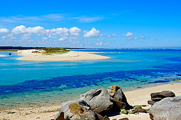 France, Briitany, Finistere, Plouescat, Kernic bay.