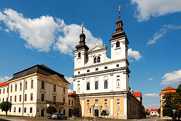 The cathedral of St. John the Baptist from the early baroque period, Trnava, Slovakia.
