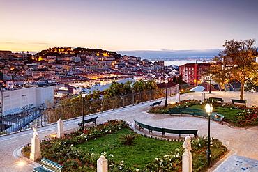 Miradouro de Sao Pedro de Alcantara, Lisbon, Portugal, Europe.