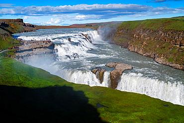 Gullfoss waterfall. Golden Circle. Iceland, Europe.