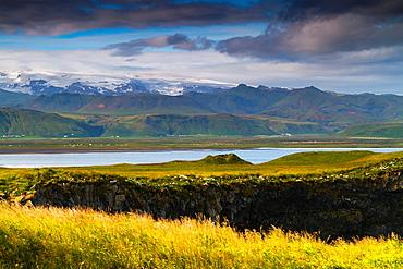 Coastal landscape. Dyrholaey. South Iceland, Europe.