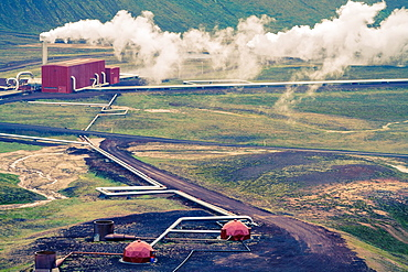 Krafla Geothermal Power Station. Iceland, Europe.