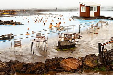 Thermal bath. Myvatn. Iceland, Europe.