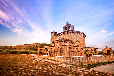The curious Church of Santa Maria de Eunate in Muruzabal, Navarra, Spain.