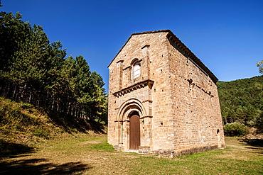 Church of Santa Maria de Iguacel, Garcipollera valley, Huesca, Spain.