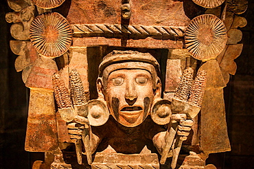 Mask, Goddess of the Corn, National Museum of Anthropology. Mexico City. Mexico.