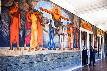 Fraternity by Diego Rivera, at SEP (Secretaria de Educacion Publica),Secretariat of Public Education, Mexico City, Mexico.