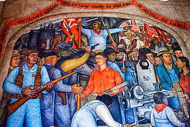 In the arsenal by Diego Rivera, at SEP (Secretaria de Educacion Publica),Secretariat of Public Education, Mexico City, Mexico.