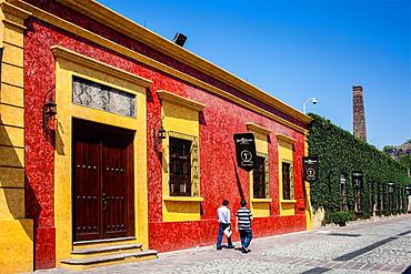 Jose cuervo tequila distillery in tequila village, Mexico.