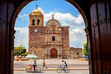 De la Purisima church in Main square, Tequila city, Jalisco, Mexico.