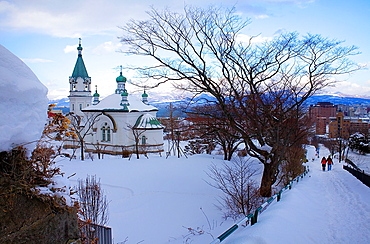Russian Orthodox church ,Motomachi district,Hakodate,Hokkaido,Japan.