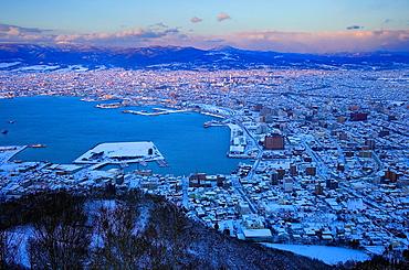 View from Hakodateyama (Mount Hakodate),Hakodate,Hokkaido,Japan.