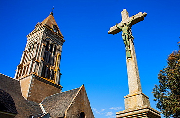 Saint Philbert Church, Noirmoutier en L'ile, Noirmoutier island, La Vendee, Pays de la Loire, France