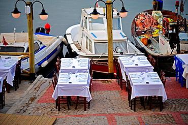 Harbourside restaurant, Bozcaada, Turkey