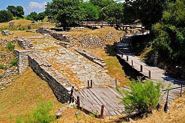 The Ramp at Troy II Citadel, 2600-2250 BC, Troy HIstoric Site, Biga Peninsula, Turkey.
