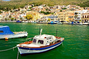 Harbour at Samos Town, Samos Island, Greece